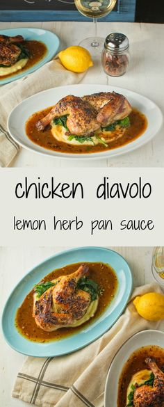 Chicken diavolo is garlicky, lemony and big on herbs.
