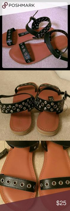 NEW Topshop sandals New with studs leather sandals. European size 40 will fit a 9. Topshop Shoes Sandals