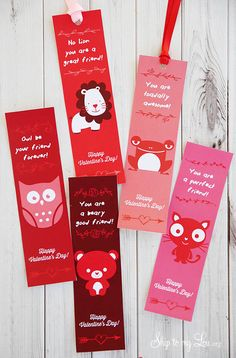 Valentine Printable Bookmarks