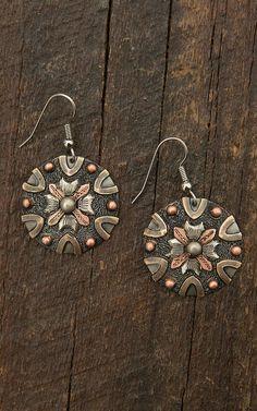 Augus Flower & Cross Earrings | Cavender's