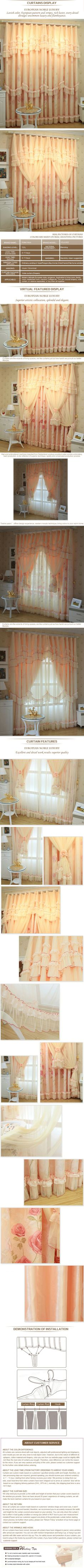 luxurious window curtain - Water Lotus $120  (55% off)