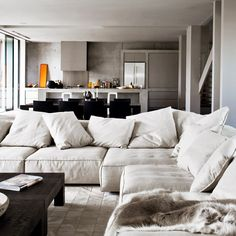 Comfy Sofa Design Sofas Home Decor Ideas Inspiration Divani Interni Classe… Home Living Room, Living Room Furniture, Living Room Designs, Living Room Decor, Living Spaces, Living Area, Cozy Living, Couch Furniture, Modern Furniture