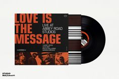 Album design for the 2018 12' single 'Love Is The Message' by Yussef Dayes and Alfa Mist. Andrew Malynowsky - Freelance Graphic Designer - Melbourne, VIC andrewmalynowsky.com Abbey Road, Global Business, Freelance Graphic Design, Album Design, Gold Coast, Mists, Melbourne, Messages, Studio