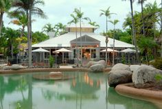 Nestled among 15 acres of lush tropical gardens, Reef Resort Villas Port Douglas is ideal for those seeking a relaxing getaway or a fun-filled holiday for th. Travel And Tourism, Travel Deals, Last Minute Hotel Deals, Resort Villa, Great Barrier Reef, Tropical Garden, Trip Advisor, Gazebo, Australia