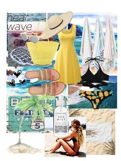 """Heat Wave"" by creativepanda1 ❤ liked on Polyvore featuring Pottery Barn, Hanalei, Kassatex, Salinas, Chinese Laundry, Herbivore, Summer, beach and heatwave"
