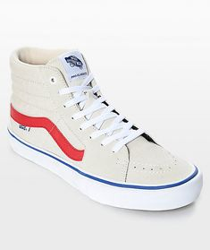 a8129008c5 Vans Sk8-Hi Pro Birch Red   White Skate Shoes