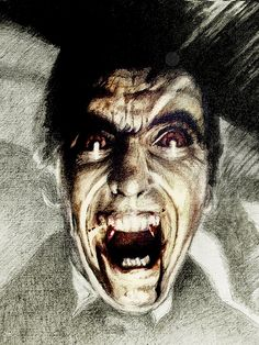 Christopher Lee as Dracula by Rob E. Brown