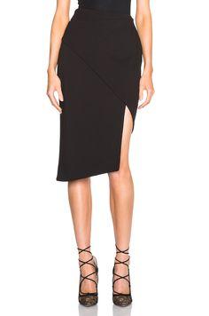 Image 1 of NICHOLAS Spiral Skirt in Black