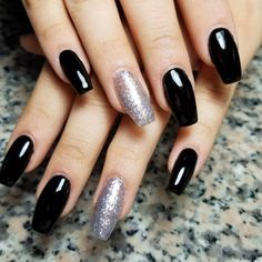 pretty Gel Coffin Nail Designs 2018