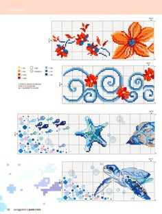 Cross Stitch Sea, Cross Stitch Bookmarks, Cross Stitch Borders, Cross Stitch Charts, Cross Stitching, Cross Stitch Embroidery, Cross Stitch Patterns, Cross Stitch Pictures, Hand Embroidery Designs