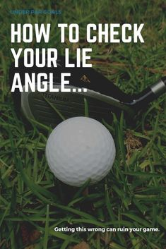Checking your lie angle is an important part of ensuring that your clubs are fitted properly. An incorrect lie angle can ruin your round and force you into bad swing habits. Golf 7 R, Play Golf, Golf Clubs For Beginners, Volleyball Tips, Golf Putting Tips, Ohio State Football, American Football, Club Face, Golf Instruction
