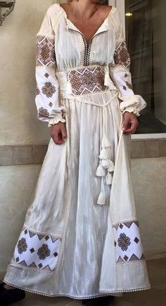 Round Neck Ankle-Length Print Vintage A-Line Dress – Style Bohemian Mode, Bohemian Style, Boho Chic, Hippie Style, Ethnic Fashion, Boho Fashion, Womens Fashion, Diy Vestidos, Ropa Shabby Chic