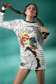 Mini dress a fumetti