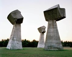 by Jan Kempenaers - photos of Spomenik, abandoned monuments in ex-Yugoslavia, Tito-era. Antigua Yugoslavia, Ex Yougoslavie, Monuments, Le Corbusier, Brutalist, World War Ii, Modern Architecture, Minecraft Architecture, Concrete Architecture