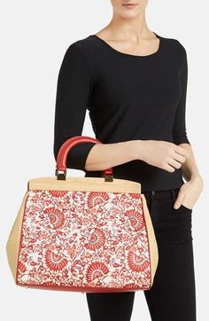 Straight from the runway! Printed Tory Burch satchel