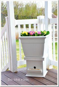 flower box bird house 3wm