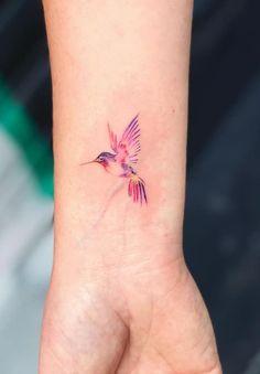 tattoos. One Line Tattoo, Line Tattoos, Small Tattoos, Hummingbird Tattoo Watercolor, Small Hummingbird Tattoo, Bird Tattoos For Women, Tattoos For Guys, Single Needle Tattoo, Cute Little Tattoos