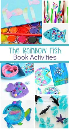 After reading The Rainbow Fish by Marcus Pfister combine these creative learning activities to create hands-on learning and play for young kids