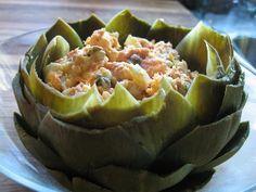 Stuffed Artichokes with Smoked Salmon Salad, Artichoke Recipes, Salmon Recipes, Smoked Salmon Recipes