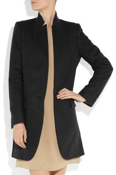 coat - kind of bland, but it would be great with a teal or red dress!