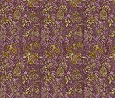 birds fabric by ruusulampi on Spoonflower - custom fabric