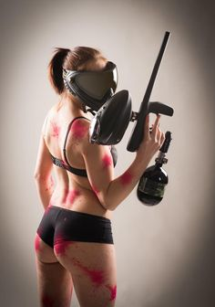 Paintball Girl... yeah right. She'd be crying if she really played in her underpants