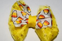 18 Inch Doll Halloween Candy Corn Tulle Hair Bow American Girl Hair Bow Halloween Wellie Wisher Hair Bow Handmade Halloween Doll Hair Bow by RachelsHairBowtique on Etsy