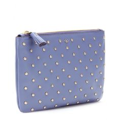 Anya Hindmarch - Joss Studded Zip Top Leather Clutch