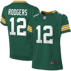 60c2dbbe8 Girls Youth Green Bay Packers Aaron Rodgers Nike Green Replica Game Jersey  Packers Football