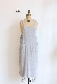 Gray ribbed jumper dress //  #shopdearsociety