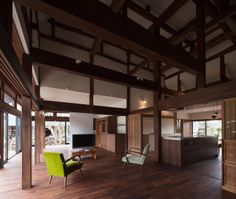 """Old Japanese timber house renovation"" Four generations in Chiba, Collaboration of more than 90 years over ""Project Overview""  ●Renovation project of housin. Japanese Style House, Traditional Japanese House, Wooden Architecture, Interior Architecture, Dream House Interior, Timber House, Japanese Interior, Dream House Plans, Mid Century House"