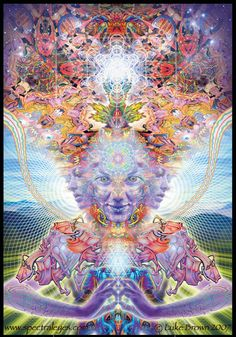 This picture is from a DMT trip, not mine, but its similar to mine :-)  DMT is also known as the spirit molecule & sends you out into the spiritual realm.