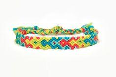 Neon Arrowhead Pattern Embroidery Macrame Friendship Bracelet by BraceletsByJen