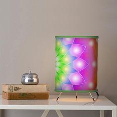 SOLD Table Lamp Mandala https://www.zazzle.com/table_lamp_mandala-256438751054846094 #Zazzle #Table #Lamp #Mandala #home #homedecor #lotus #abstract #petals #colorful