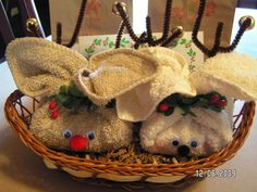 Reindeer washcloth gifts