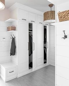 MUDROOM IDEAS – The mudroom is a very crucial part of your house. Mudroom allows you to keep your entire home clean and tidy. Mud room or you can call it a Mudroom Cabinets, Mudroom Laundry Room, Laundry Room Design, Mud Room Lockers, Bench Mudroom, Mud Room In Garage, Mudroom Cubbies, Tall Cabinets, Ikea Cabinets