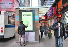 Immersive advertising campaigns that include touch screens and gesture-based interactivity have become a reality for advertisers that are looking to engage with consumers on New York's busy streets. Out Of Home Advertising, Advertising Networks, Creative Advertising, Times Square New York, Church Stage Design, Video Wall, Branding, Environmental Graphics, Screen Design