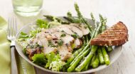 Minted Chicken with Asparagus