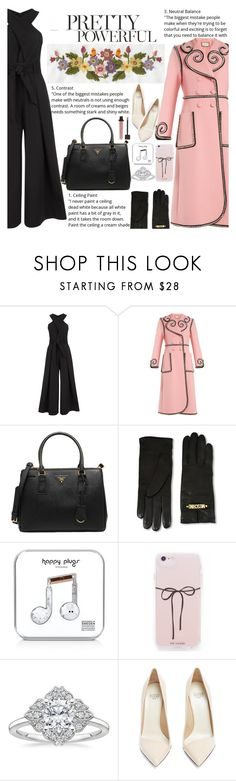 """Untitled #2781"" by anarita11 ❤ liked on Polyvore featuring Temperley London, Gucci, Prada, Moschino, Happy Plugs and Francesco Russo"