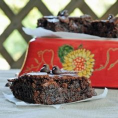 The perfect brownie...fudgy in the middle with a crisp crust on top!