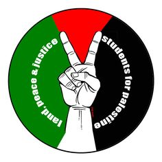 Badge for students for Palestine. Image is from Carlos Latuff, a Brazilian left wing cartoonist.   http://latuffcartoons.wordpress.com/