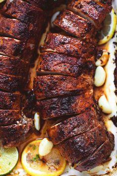 Best Baked Pork tenderloin easy, tasty recipe | lecremedelacrumb.com Pork Recipes, Cooking Recipes, Healthy Recipes, Cooking Rice, Cooking Steak, Potato Recipes, Pork Dishes, Dinner Recipes, Gastronomia