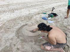 Sunny days, sweeping the sand away... #BeachesMoms
