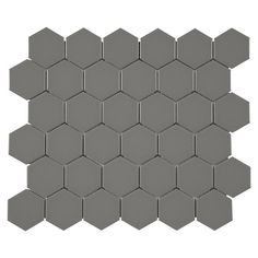 Metro Taupe Matte Hexagon Porcelain Mosaic - 12in. x 12in. - 100139252 | Floor and Decor