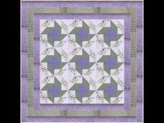 How to Make a Quilt - Whirligig Patchwork Quilt Patterns Video