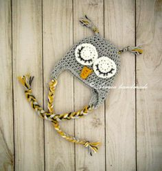 Baby owl hat, crochet owl hat, baby girl owl hat, baby boy owl hat, newborn owl hat, sleepy owl hat, infant owl hat, baby animal hat by Amaiahandmade on Etsy