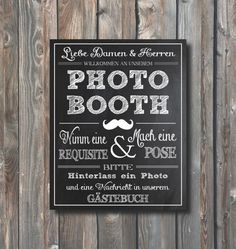 Wedding Photo Booth Sign–Guestbook Sign–Hochzeit Photo Booth-Hochzeit Gästebuch Sign–Chalkboard Sign-8x10 Photo Booth Sign–Instant Download