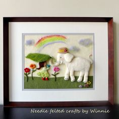 Needle felted 3D picture A true caring friend by FunFeltByWinnie, $188.00