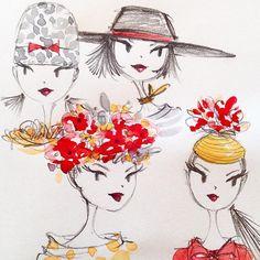 wearing many hats Anne Keenan Higgins illustration