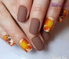 The autumn leaves nail designs are so perfect for fall-winter! Hope they can inspire you and read the article to get the gallery. Latest Nail Designs, Fall Nail Art Designs, Beautiful Nail Designs, Beautiful Nail Art, Acrylic Nail Designs, Acrylic Nails, Simple Fall Nails, Autumn Nails, Cute Nails